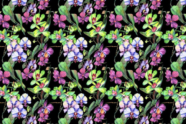 Orchid green flowers PNG watercolor set Digital