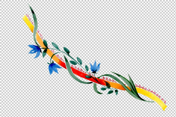 Ornament floral Riddle watercolor png Flower