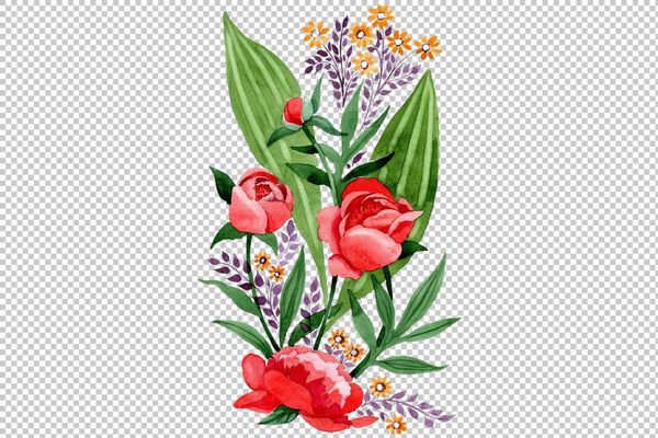 Ornament red free Ukraine watercolor png Flower