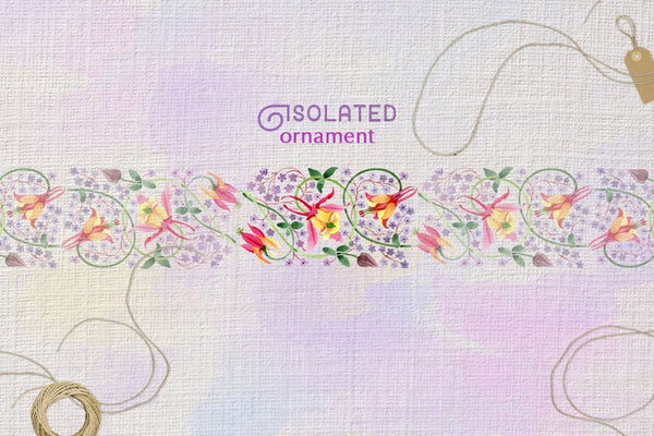 Ornament Violet Watercolor png Digital