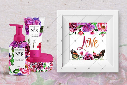 Pink Charm Peonies Png Watercolor Set Digital