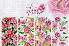 Pink Peonies Rasa Cinta Watercolor png Digital