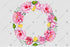 Pink Rose Wreath Frame Flowers Watercolor Png Design
