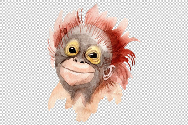 Primates Watercolor png Flower