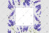 Purple Lavender Flowers Frame Png Watercolor Design