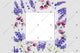 Purple lavender frame flowers watercolor PNG