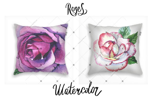 Raon romansach de 6 Png Watercolour Roses Digital