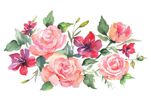 Roses bouquet joy of love watercolor png Flower