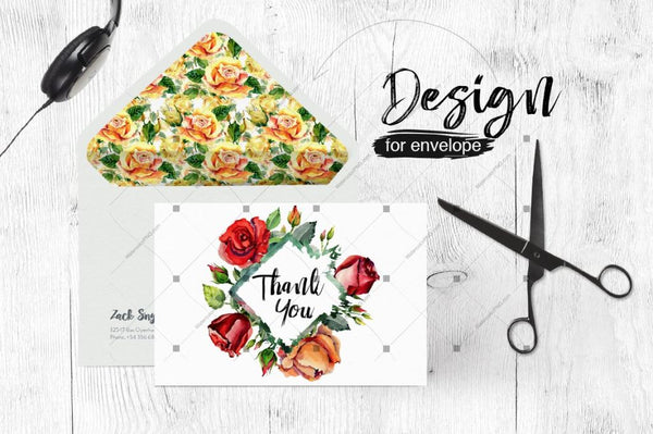 Roses Flowers Png Watercolor Set Digital