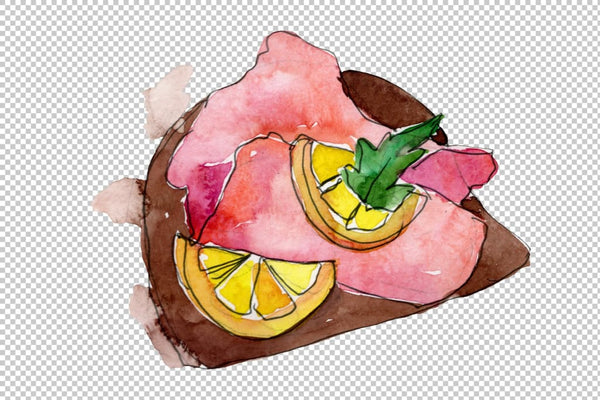 Sandwich Muffuletta watercolor png Flower
