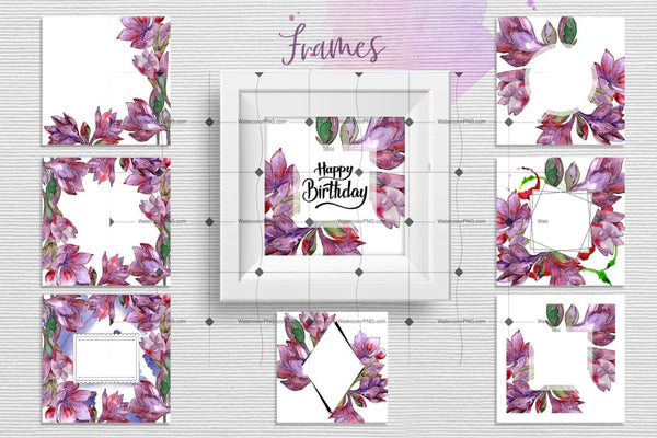 Spring Flower Watercolor Png Set Digital
