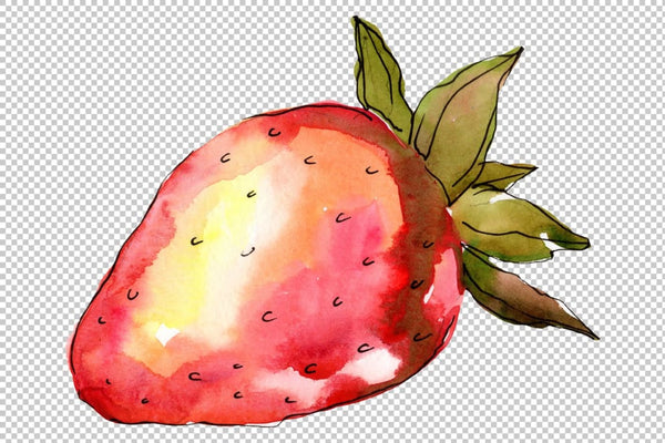 Strawberry Marmolada watercolor png Flower