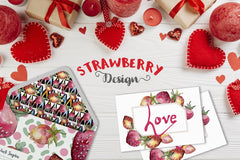 Strawberry Watercolor png Raqamli
