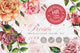 Stunning roses PNG watercolor set