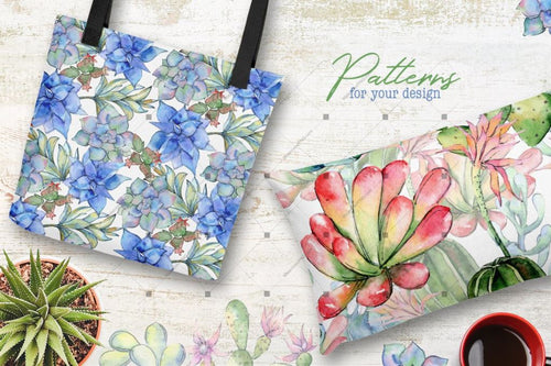Succulents Cactus Png Watercolor Set Digital