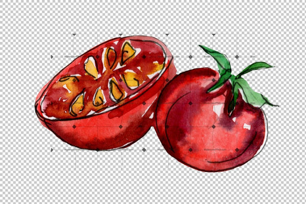 Tasty Italian Pizza Png Watercolor Set Digital