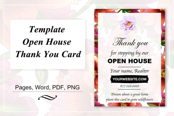 Template for Real Estate Agents: Thank you for visiting Open house Offer