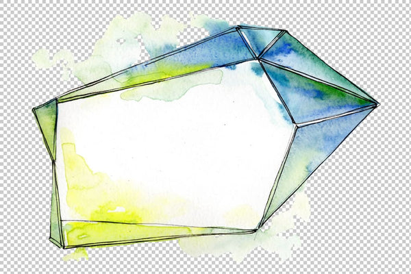 Tourmaline crystals Watercolor png Flower