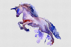 Unicorn animal world watercolor png Flower