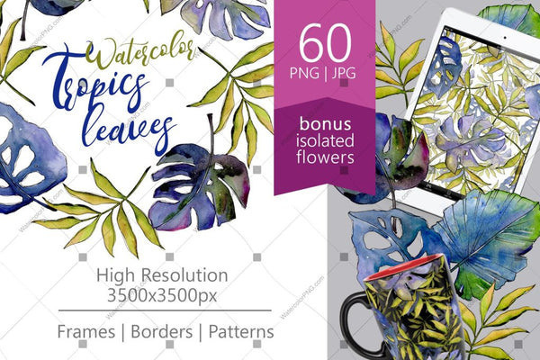 Watercolor Spring Bundle 500+ Files Budle