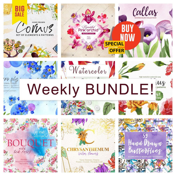 Weekly watercolor bundle 06/11/19 Bundle