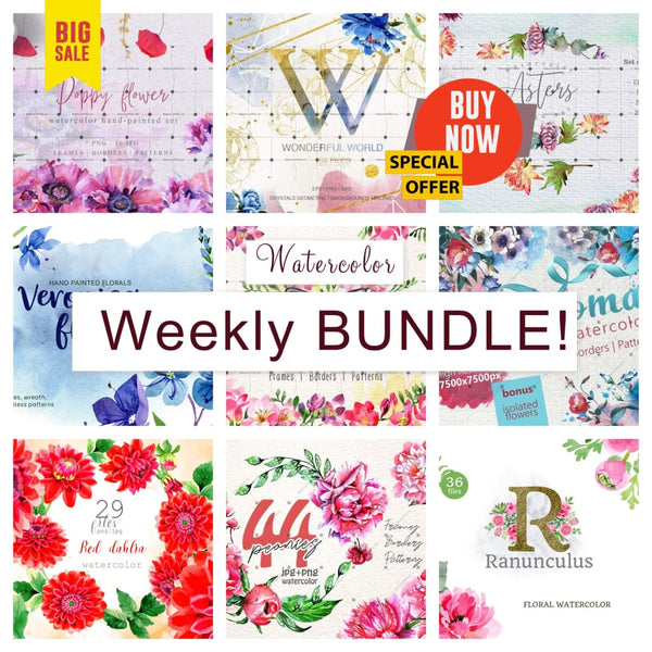 Weekly watercolor bundle 11/12/19 Bundle
