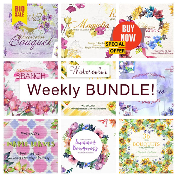 Weekly watercolor bundle 13/11/19 Bundle