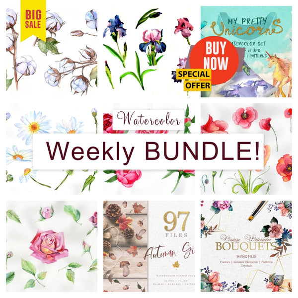 Weekly watercolor bundle 20/09/19 Bundle