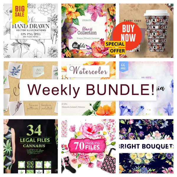 Weekly watercolor bundle 20/11/19 Bundle