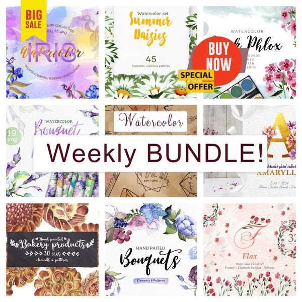 Weekly watercolor bundle 30/10/19 Bundle