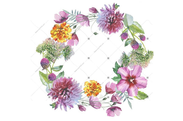 Wild Flowers Watercolor Png Clipart Digital