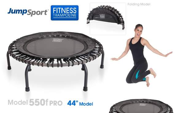 "PRO FITNESS TRAMPOLINE (44"") MODEL 550F (FOLDING/BUNGEE CORDS-no springs)"
