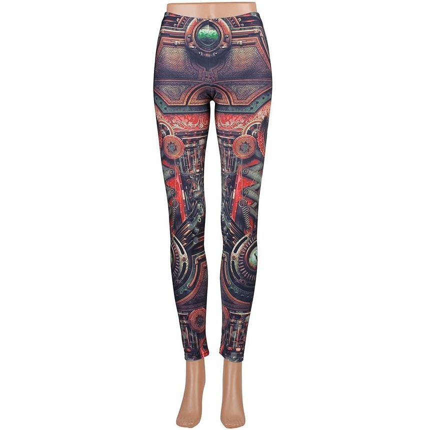 Mechanical Gear Leggings - Frontier Punk