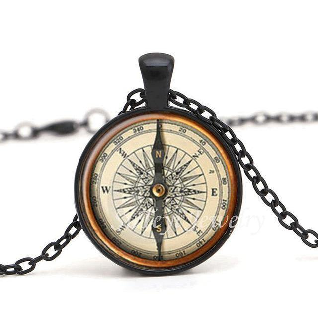 Steampunk Retro Compass Pendant Necklace - Frontier Punk