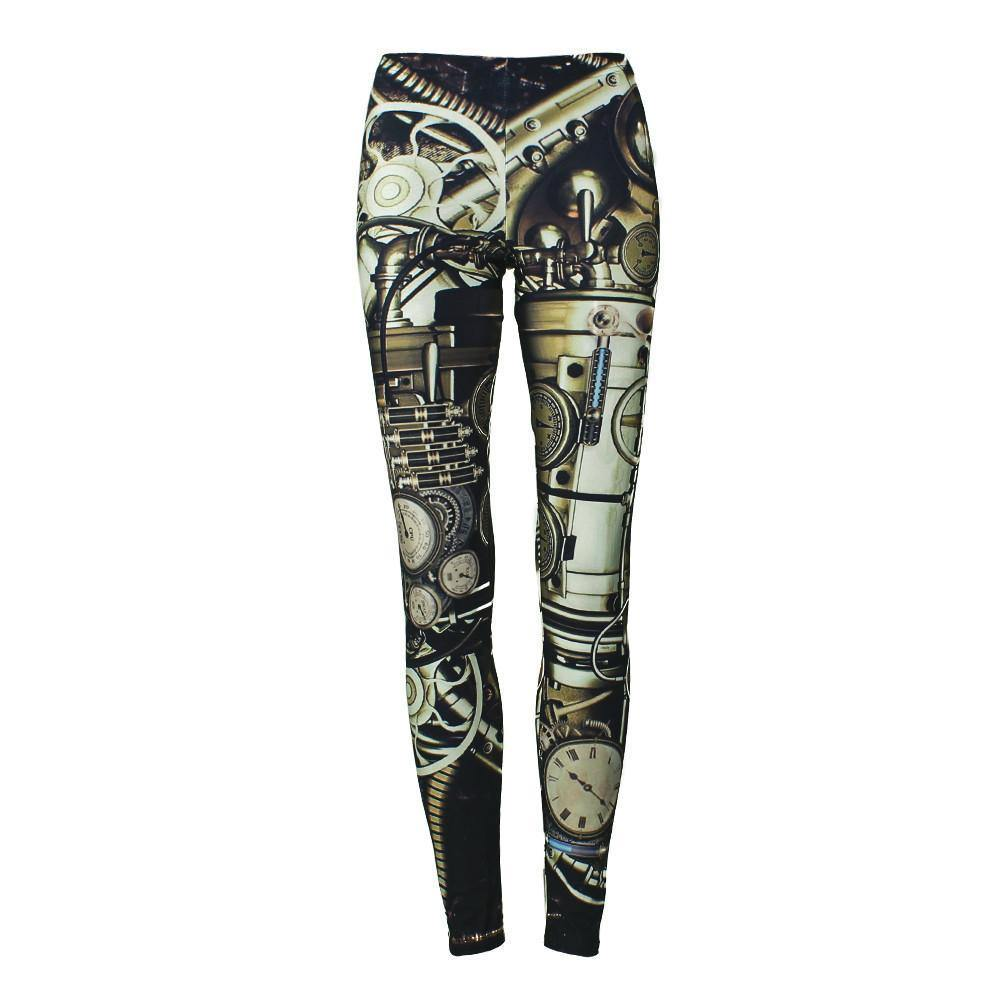 Mechanical Dial Leggings - Frontier Punk