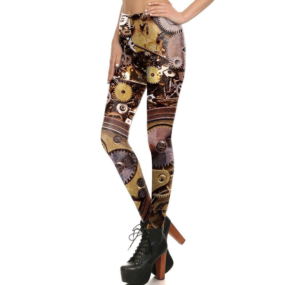 Clockwork Leggings - Frontier Punk