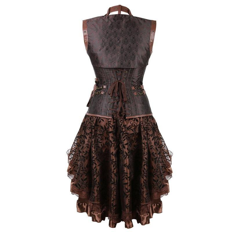 Women's Gothic Victorian Steampunk Corset Dress