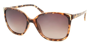 tort and gold polarised fashion sunglasses