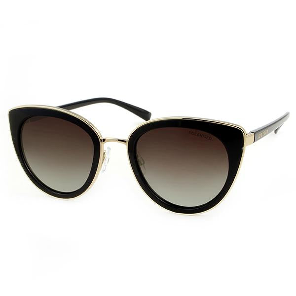 black gold ladies fashion polarised sunglasses