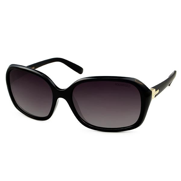 Locello black polarised fashion sunglasses