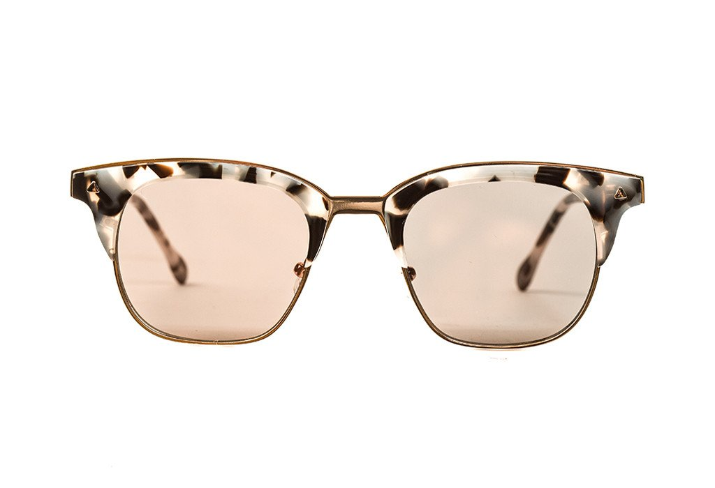 Baby pink rose gold metal sunglasses valley eyewear
