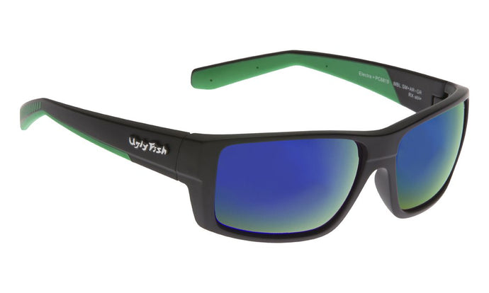 polarised fishing sunglasses matte black green