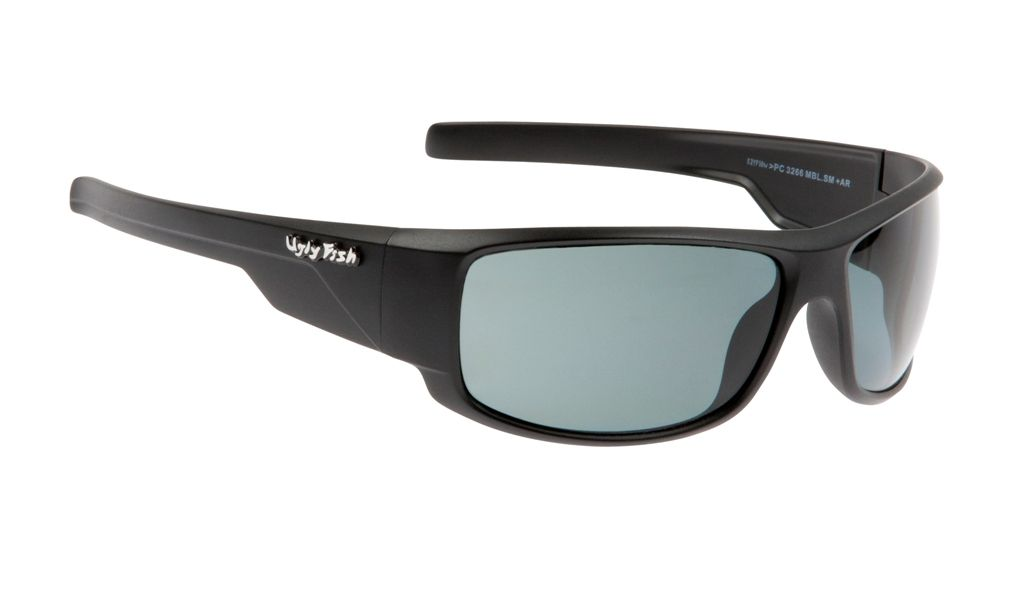 ugly fish matte black polarised sunglasses mens