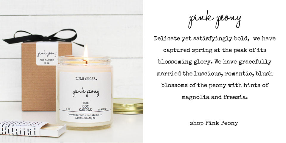 Pink Peony Scented Soy Candle