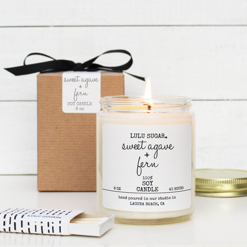 Sweet Agave + Fern 8 oz Candle