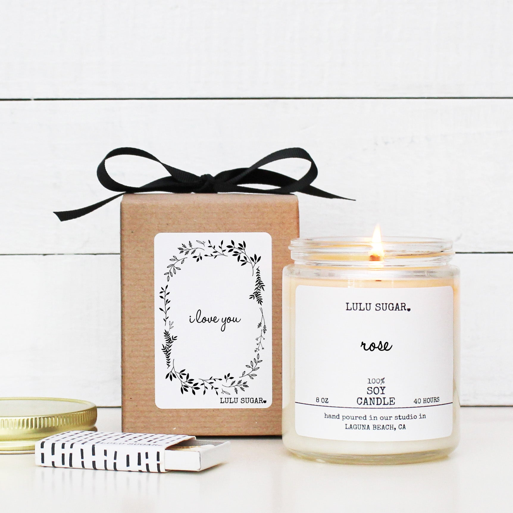 I Love You Soy Candle Gift
