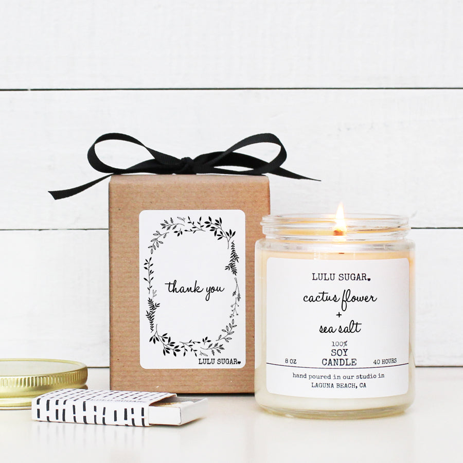 Thank You Soy Candle Gift