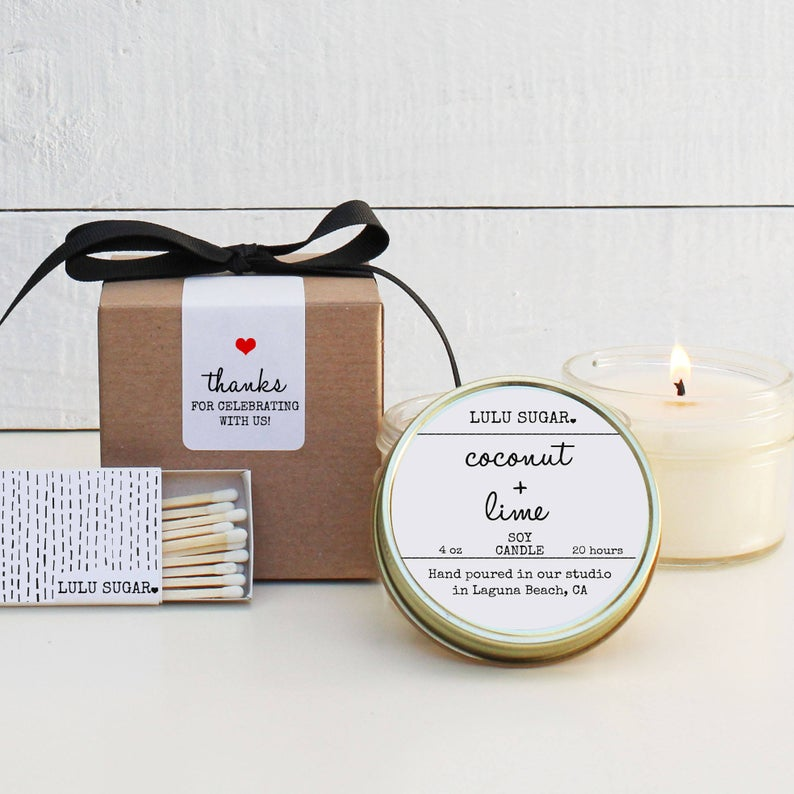 Wedding Favor Candles - Scented Design