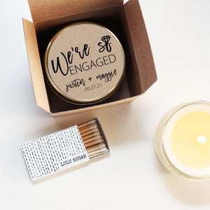 Wedding Favor Candles - We're So Engaged Design