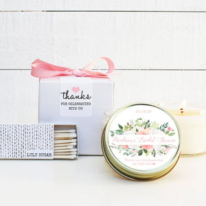 Bridal Shower Favor Candles - Floral Bouquet Design